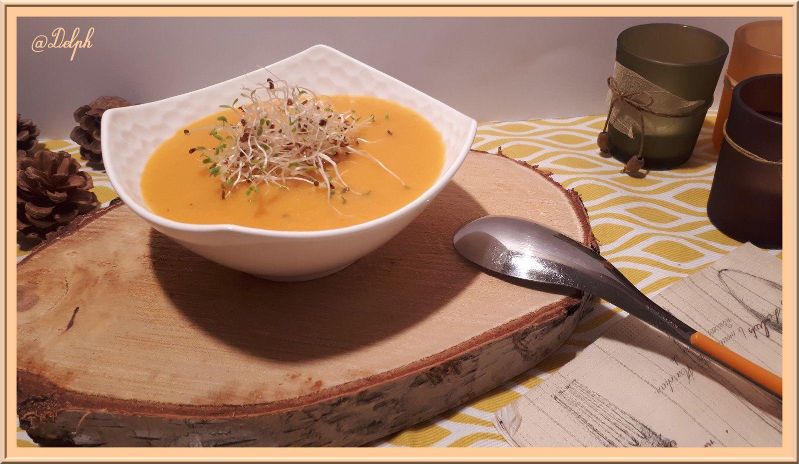 Soupe de carottes au lait de coco