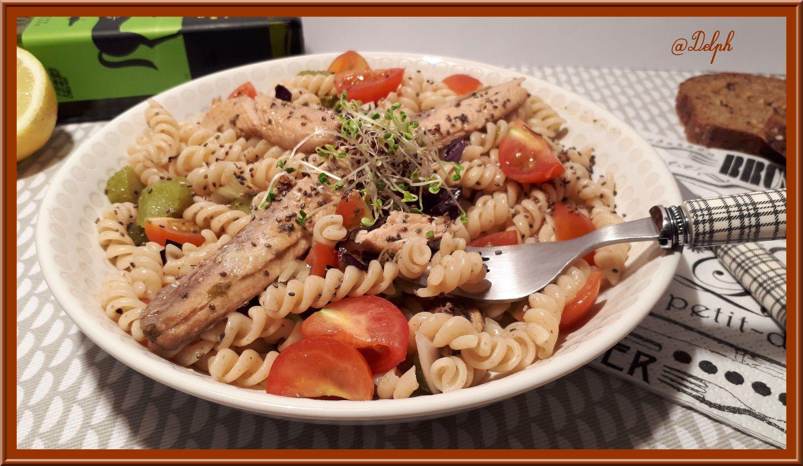 Salade de pâtes et sardines