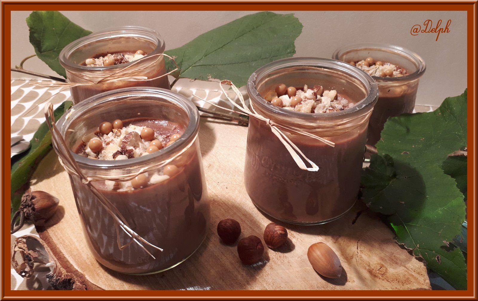 Petites crèmes chocolat et noisettes