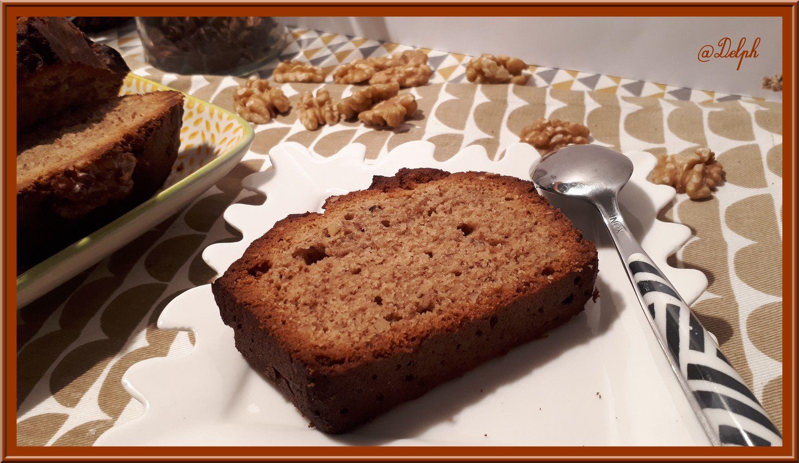 Cake aux noix miel et épices douces