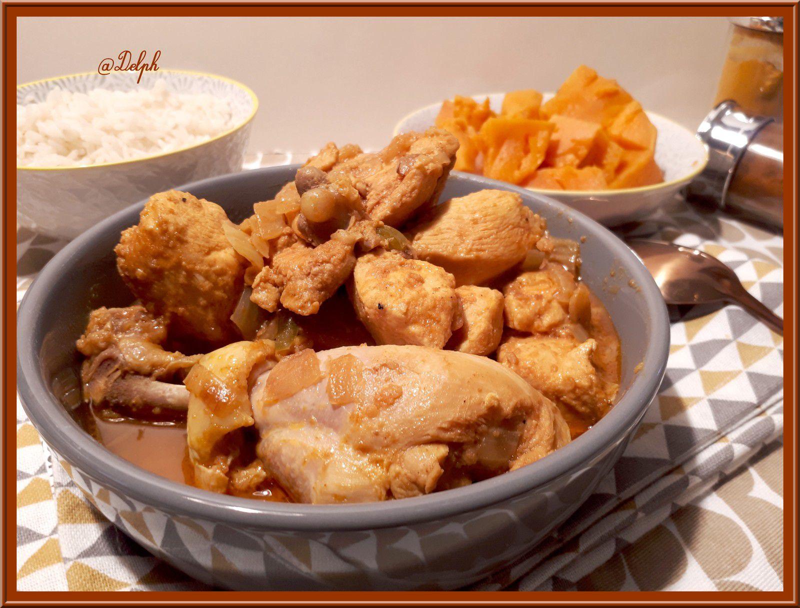 Mafé de poulet et patate douce