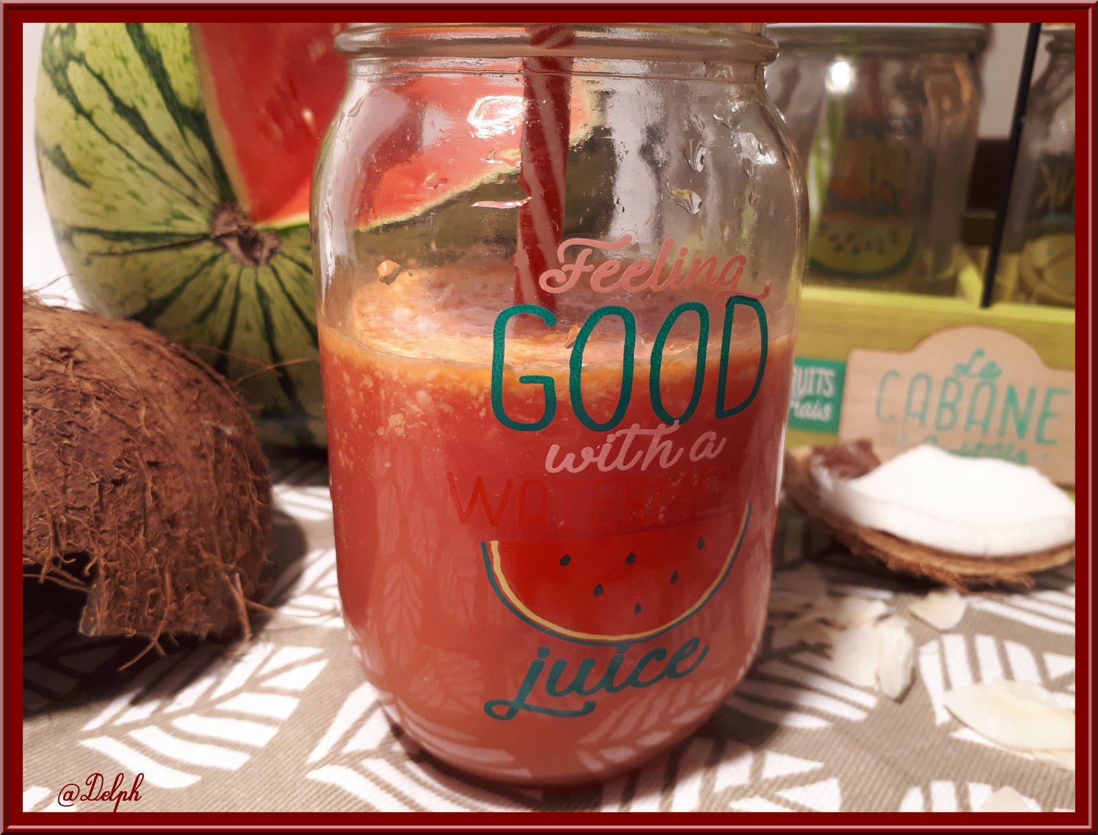 Jus de pastèque et Coco
