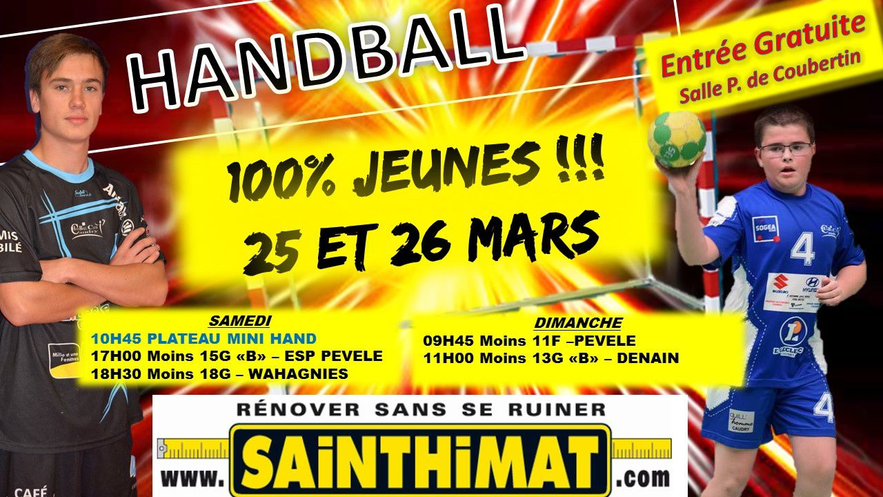 MATCH DU WE DU 25 ET 26 MARS