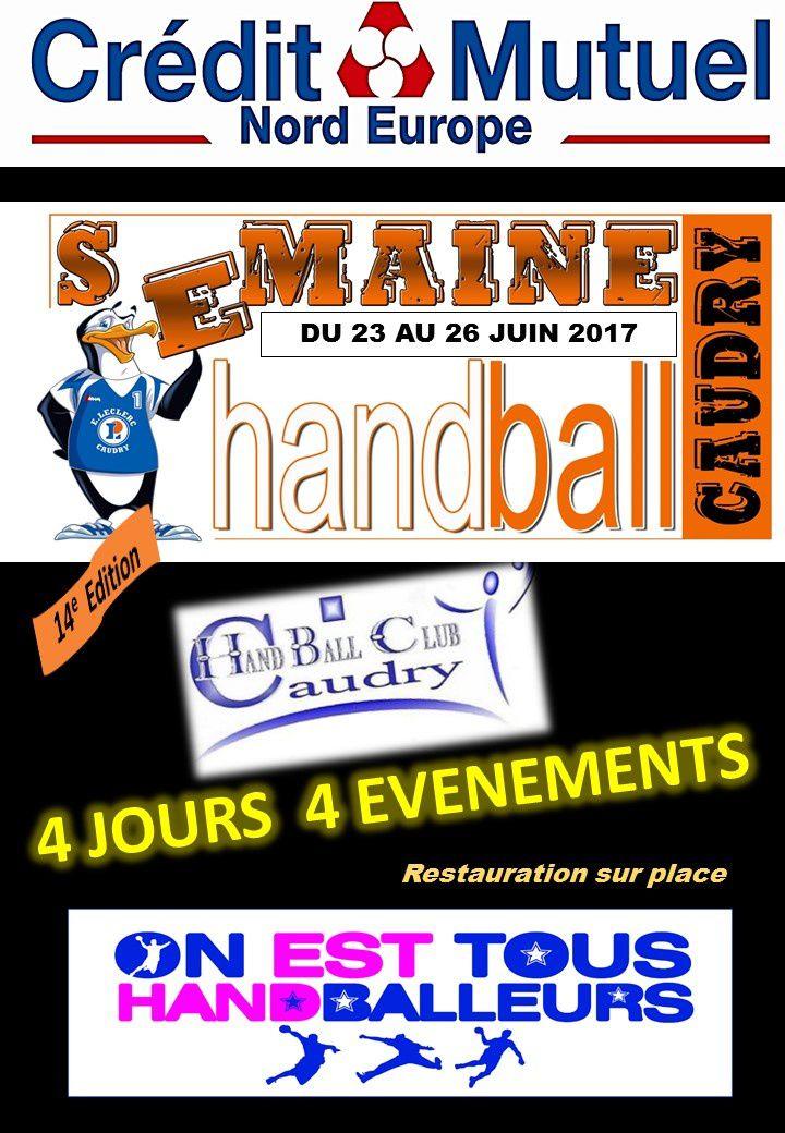 SEMAINE DU HANDBALL du 23 au 26 Juin : 4 JOURS DE FOLIE !!!!