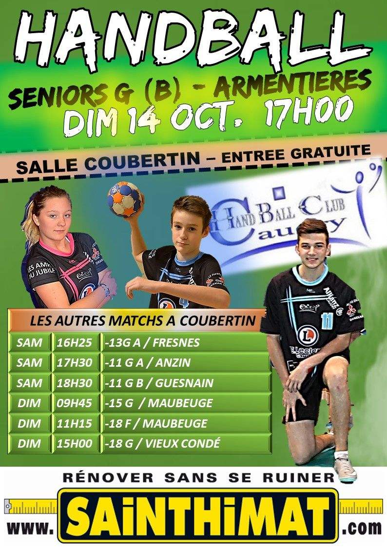 MATCHS DU WE 13/14 OCT A COUBERTIN