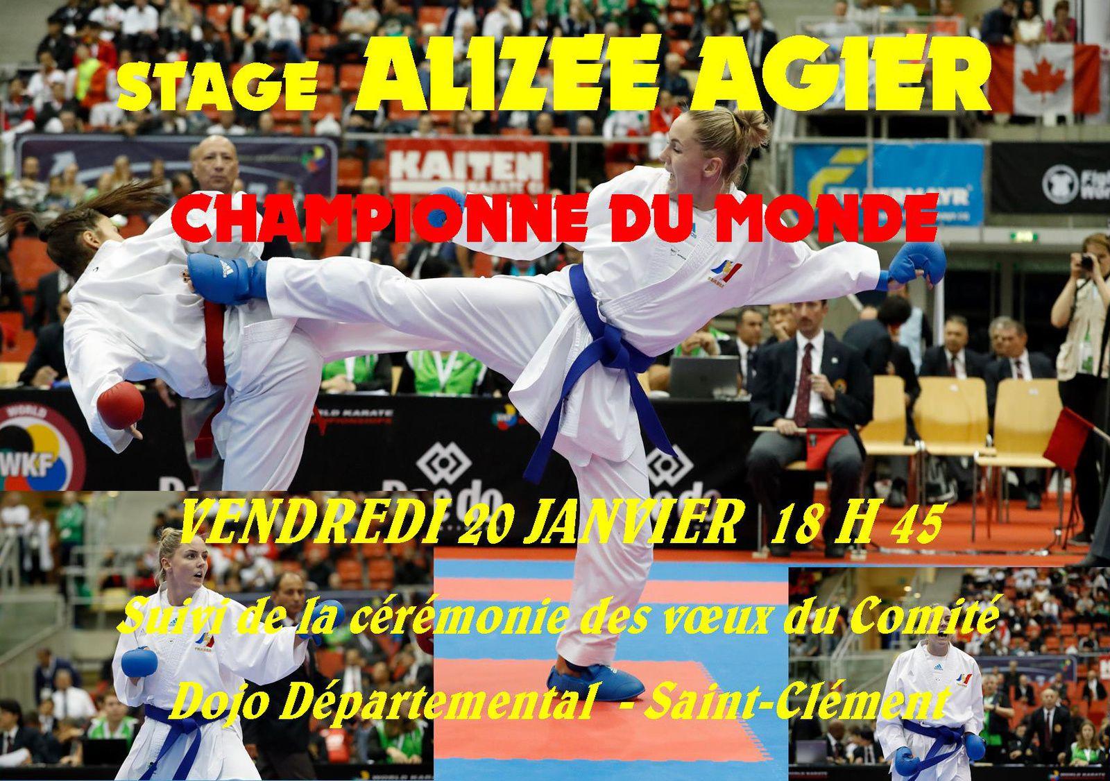 La championne du Monde Amizée AGIER au Dojo Départemental