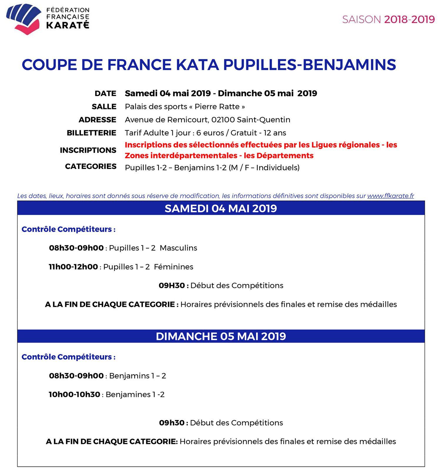4 Clémentins en Coupe de France KATA