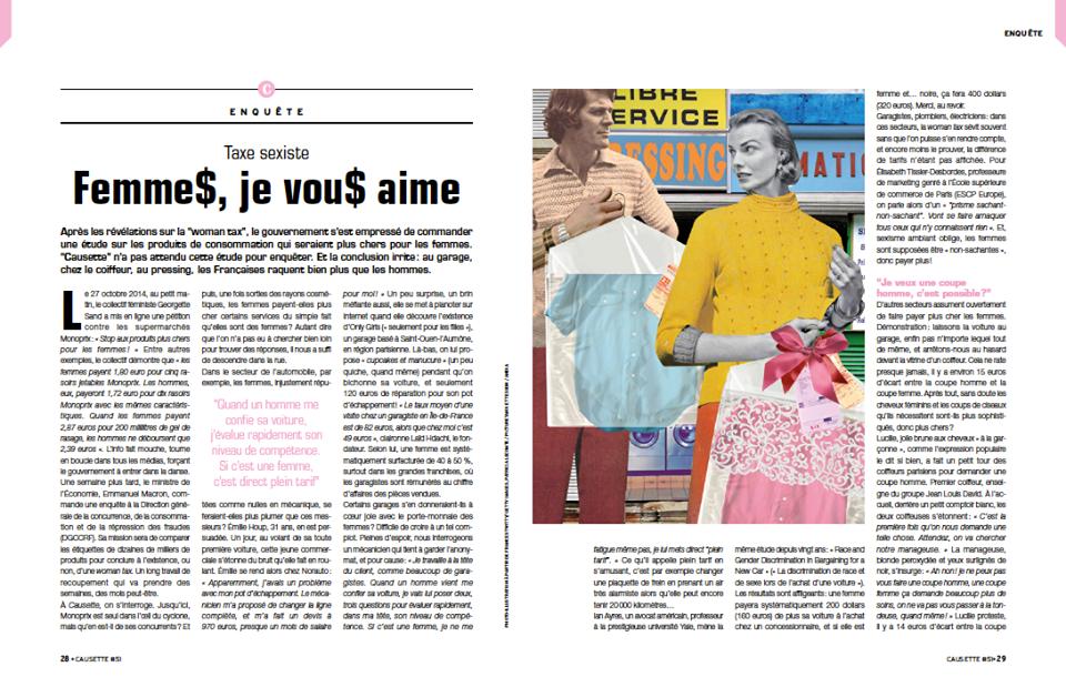 Causette 51 - Décembre 2014 - Dossier.