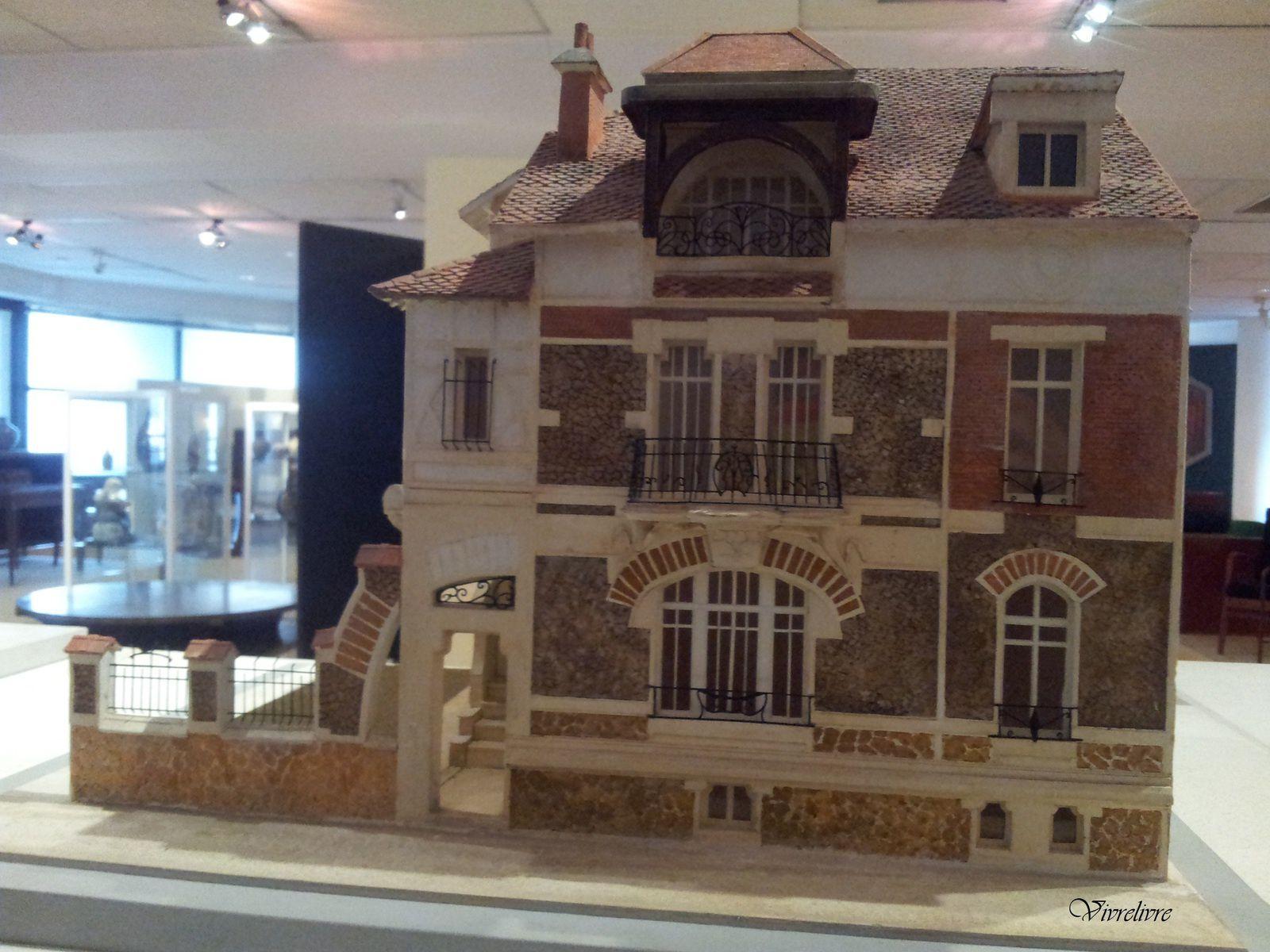 Maquette de l'hôtel particulier (1900 - Art Nouveau), 62 Route de la Reine, Boulogne par Alexandre Barret.