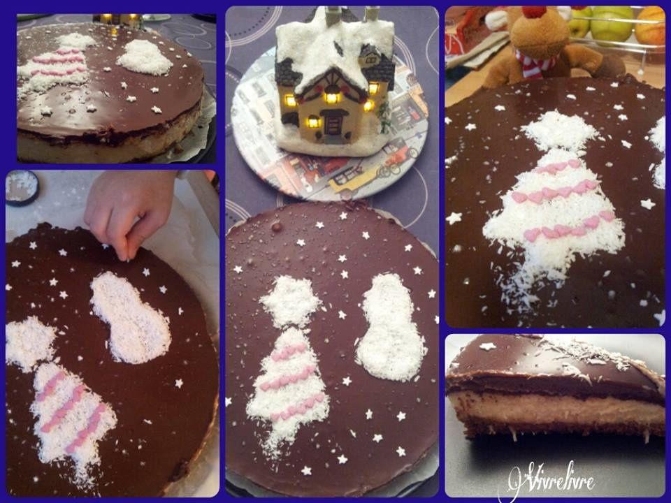 Les préparatifs de Noël commencent, ici avec le (No) cheesecake choco coco de Tambouille et délices (végétalien): http://www.tambouilleetdelices.fr/2014/08/05/no-cheesecake-choco-noix-de-coco-vegan/