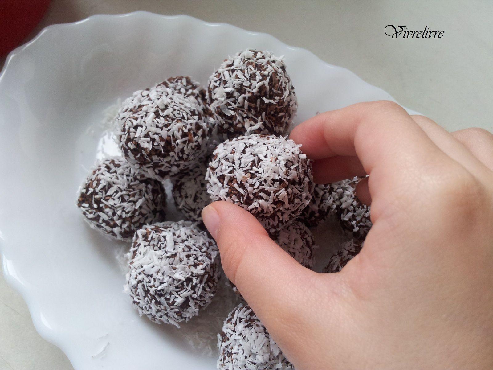 Truffes coco et cacao - Photo personnelle