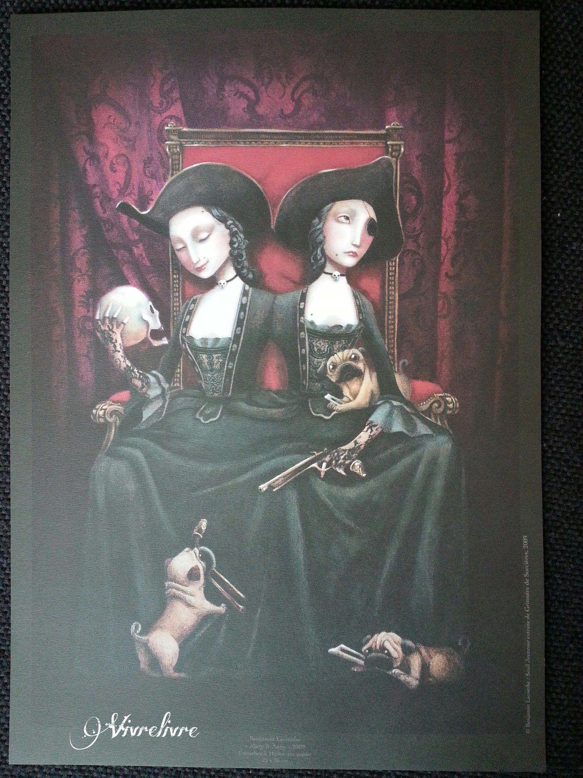 Affiche issue du Grimoire des Sorcières de Benjamin Lacombe (2009)
