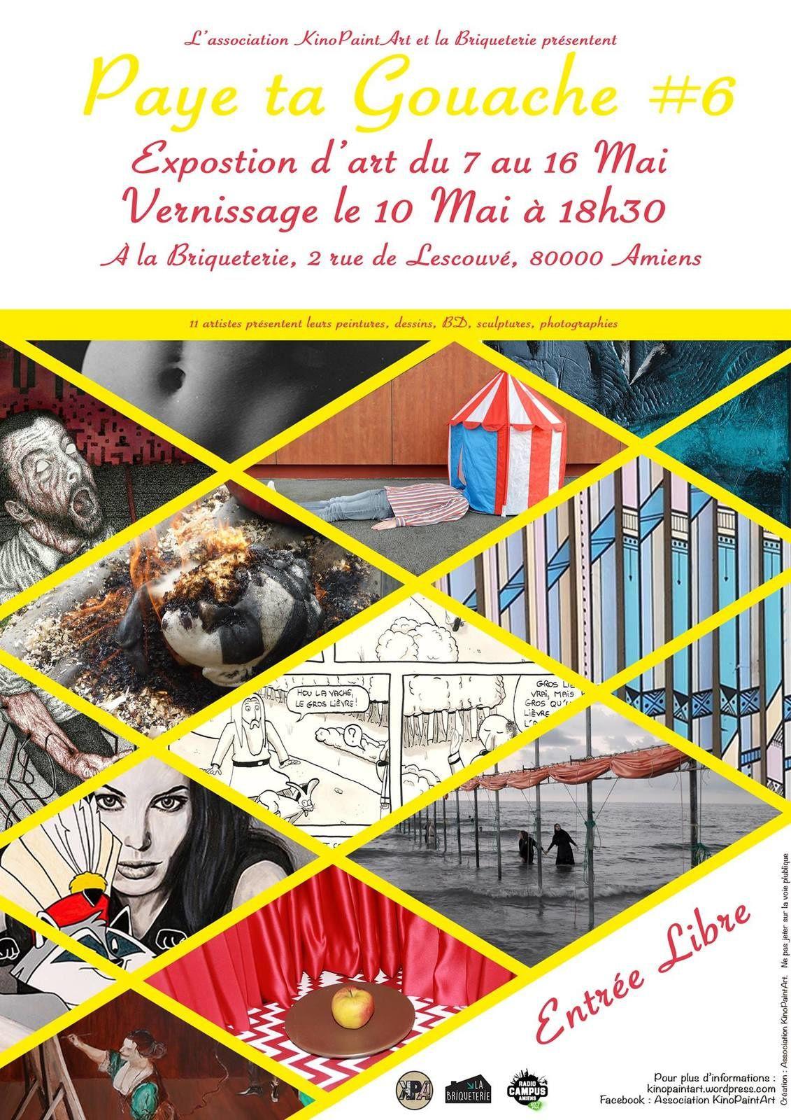 Exposition Paye ta gouache #6 - Du 7 au 16 mai à la Briqueterie