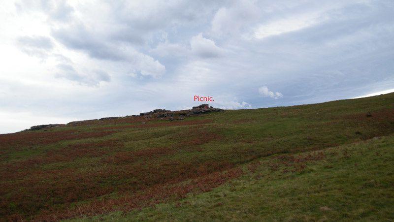 Plateau vert depuis Olhatea ( 327 m ). Jeudi 8 novembre 2018.
