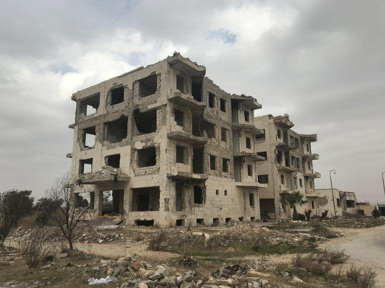 Un des bâtiments de l'hôpital psychiatrique Ibn Khaldoun d'Alep détruits par les terroristes . Janvier 2018. (Photo: Vanessa Beeley)