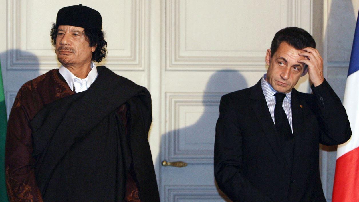Sarkozy Kadhafi (c) AP