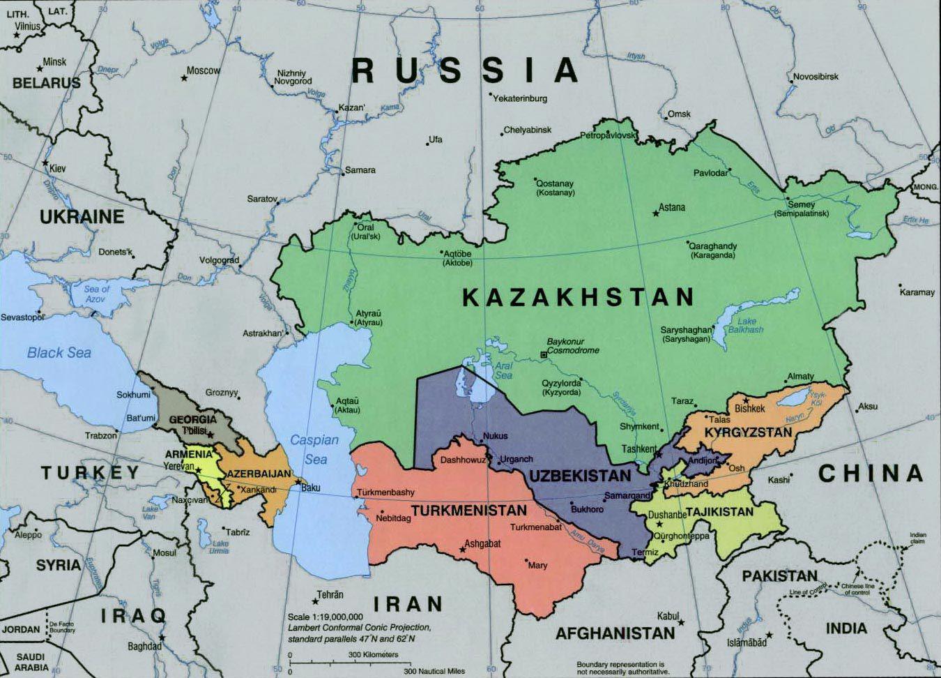 Le Kazakhstan a une frontière commune avec les principaux rivaux des États-Unis : la Russie et la Chine.