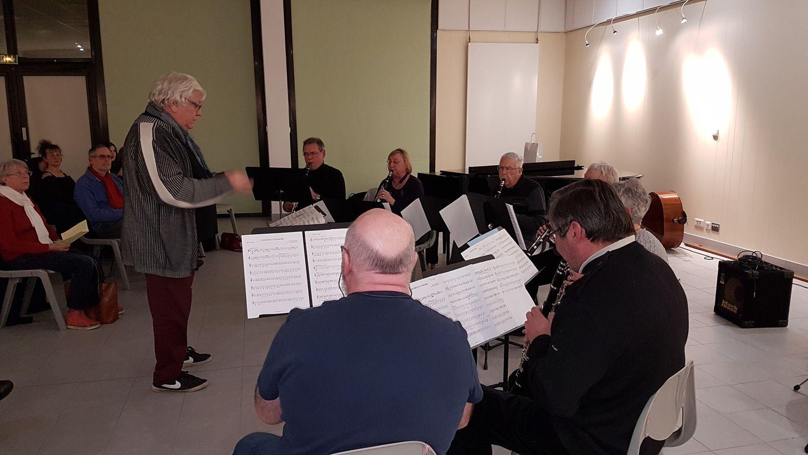 L'Ensemble de clarinettes aux auditions de l'Ecole de Musique
