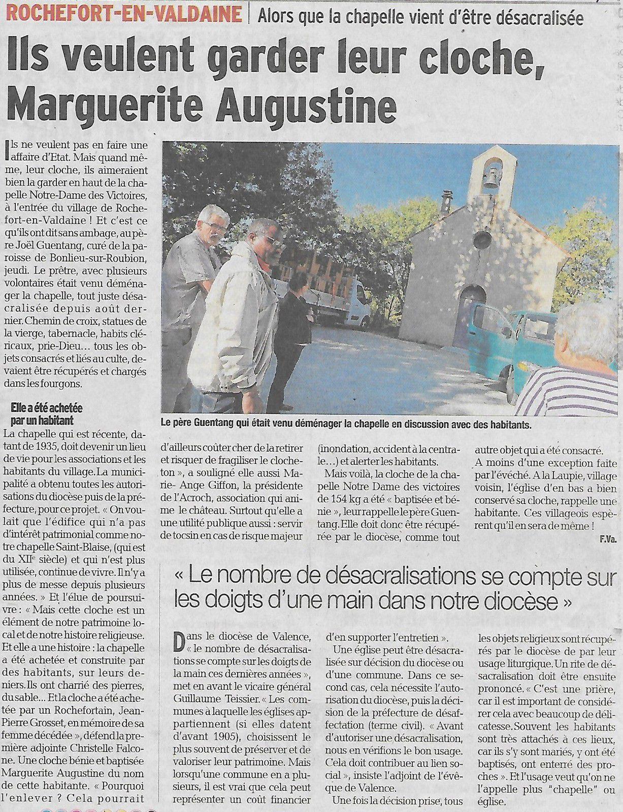 Source: Le Dauphiné Libéré du 06 Octobre 2019.