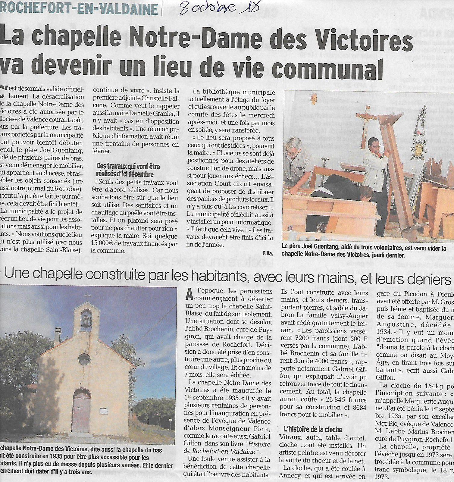 Source: Le Dauphiné Libéré du 08 Octobre 2019.