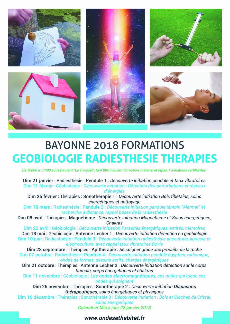 """BAYONNE - Formation Découverte Initiation : """"Magnétisme et soins énergétiques"""""""