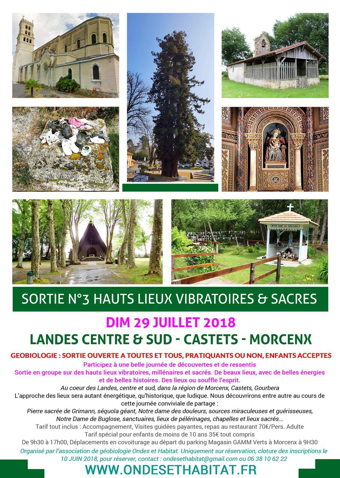 Géobiologie Sortie 3 : hauts lieux vibratoires  «Au coeur des Landes»