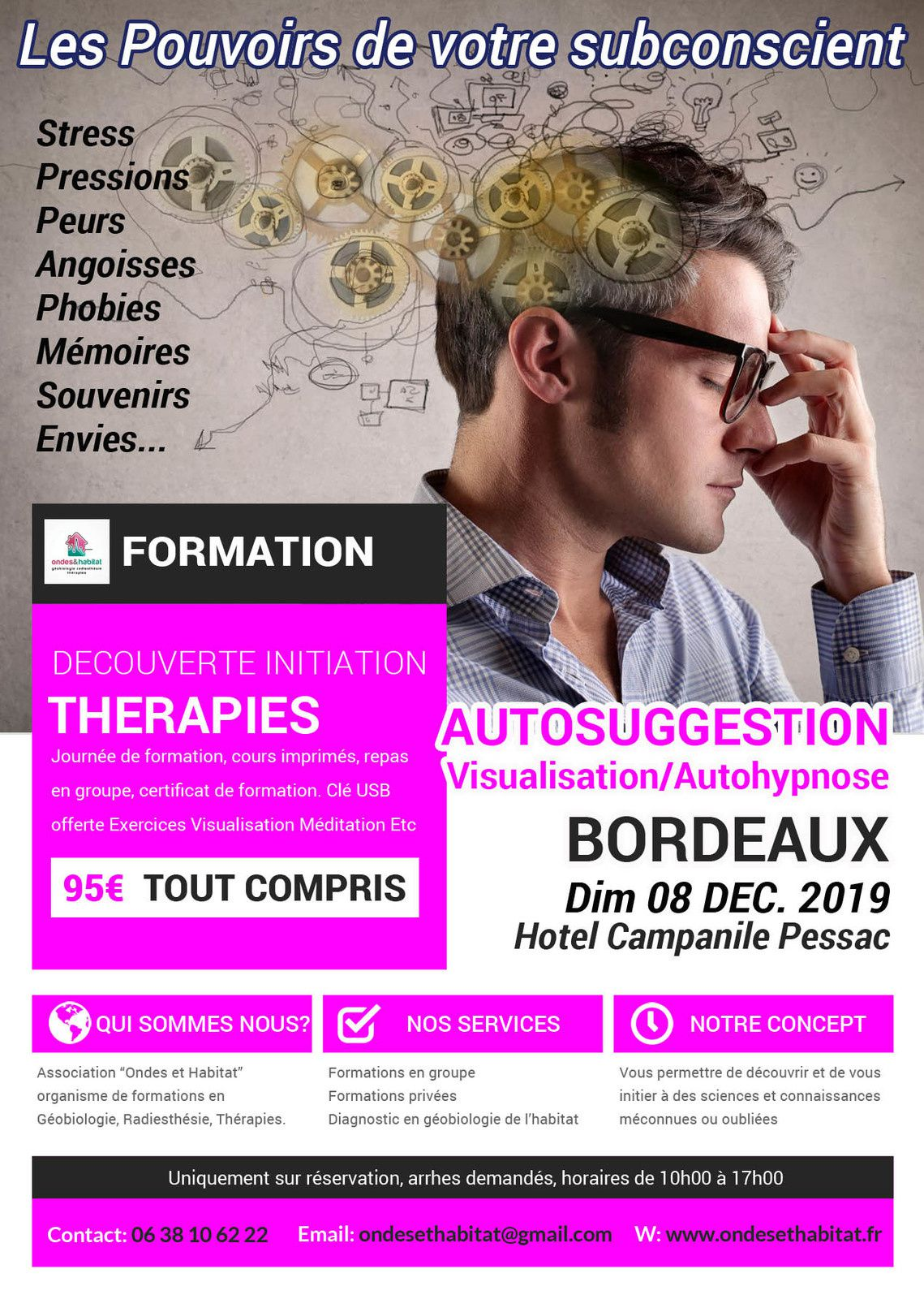 Bordeaux Formation : Autosuggestion Autoguerison Visualisation 08 décembre 2019