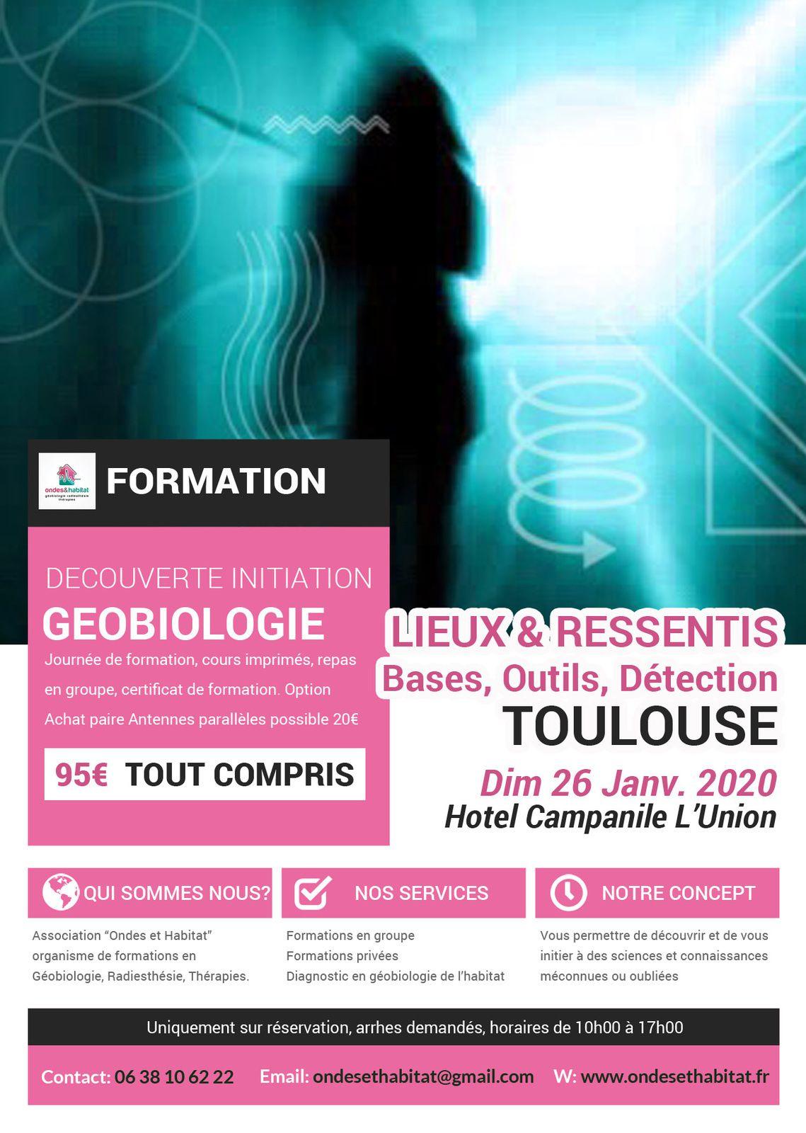 NOUVEAU TOULOUSE Formation « LIEUX & RESSENTIS» GEOBIOLOGIE 26 janvier 2020