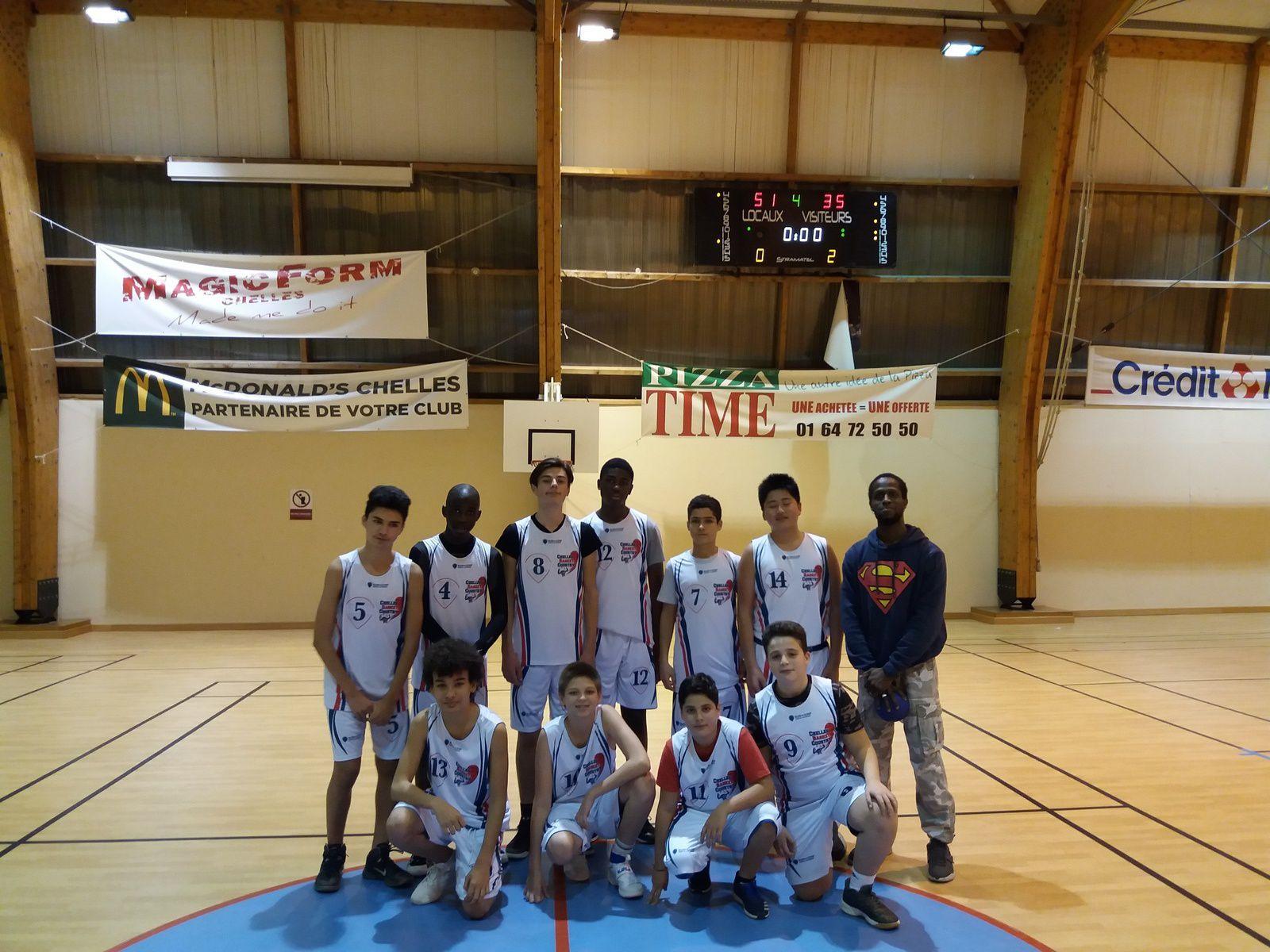 Victoire des Minimes 2 contre Theo Basket