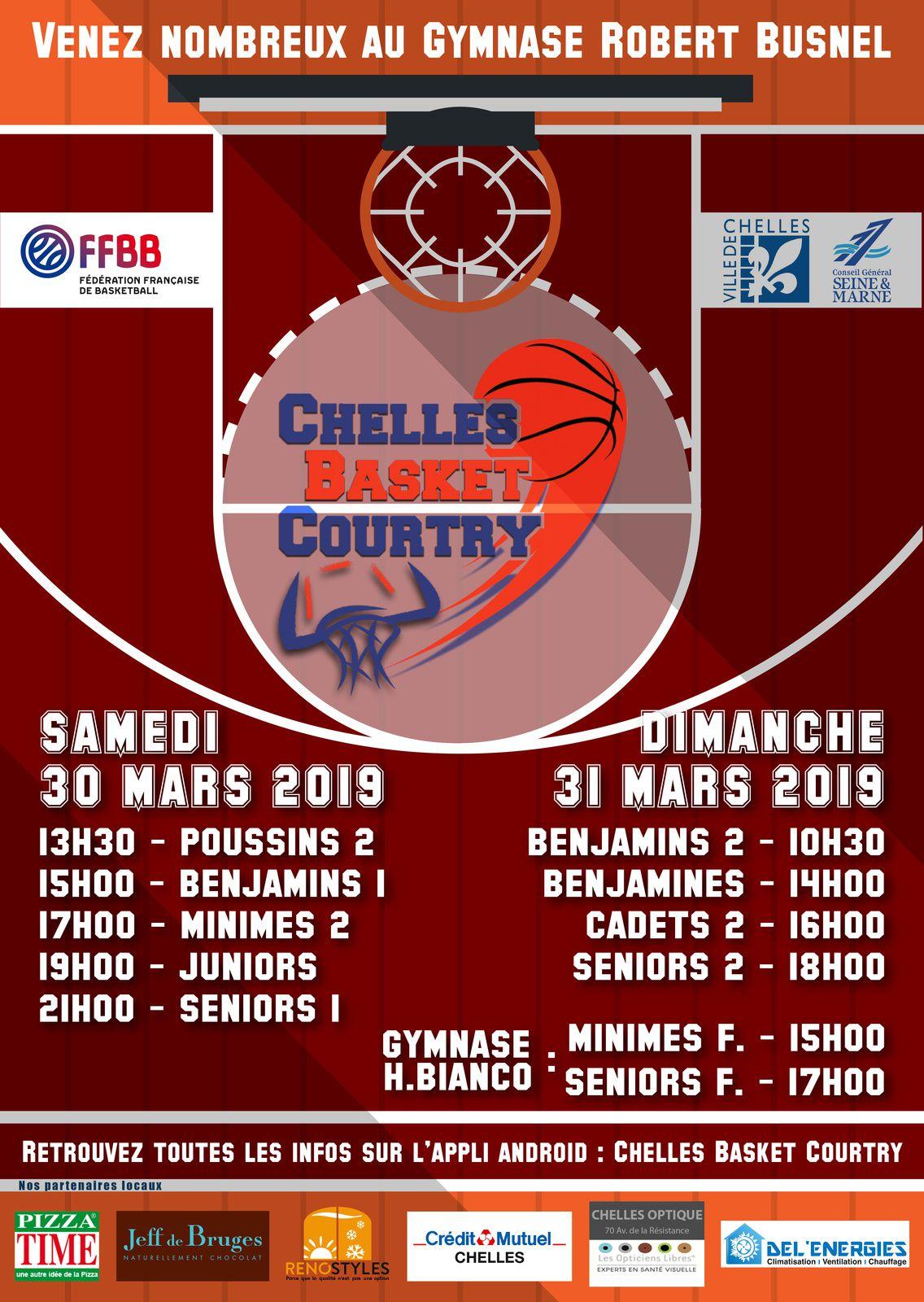 Matchs des 30 et 31 mars 2019