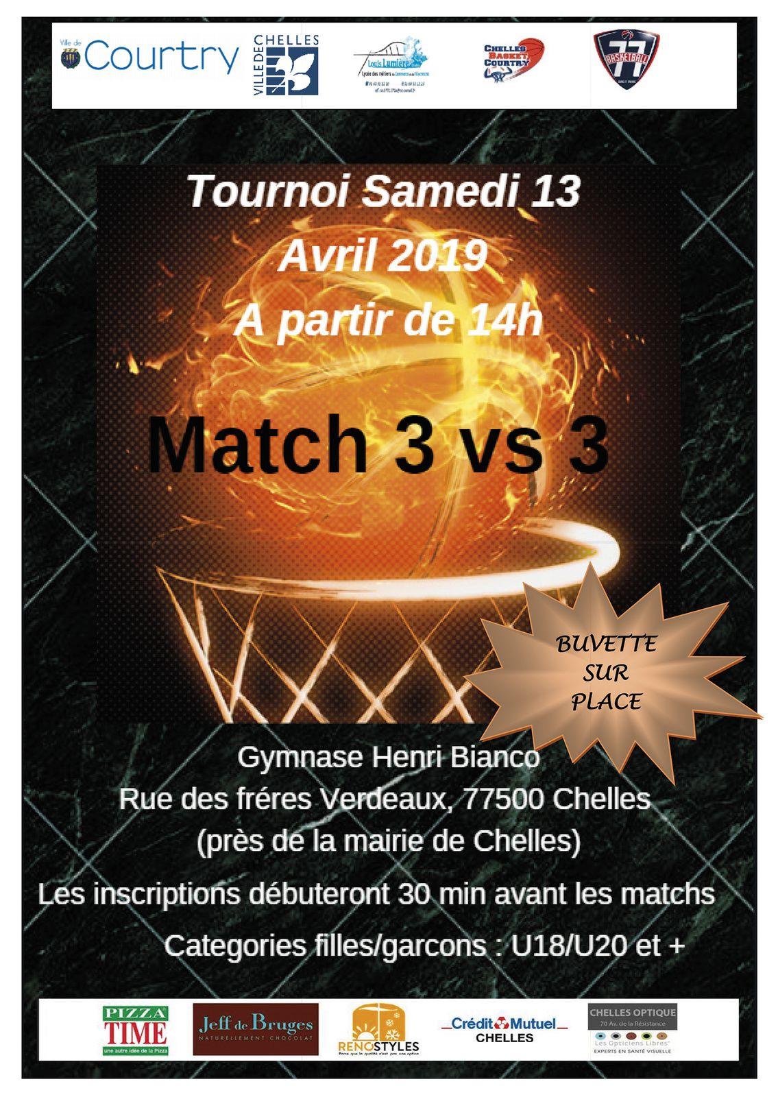 Matchs du 10 au 14 avril 2019