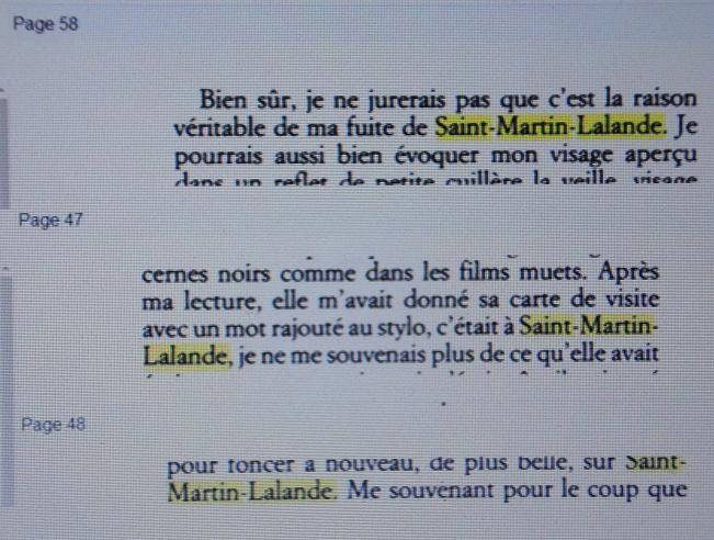 St Martin Lalande - écrits et évrivains