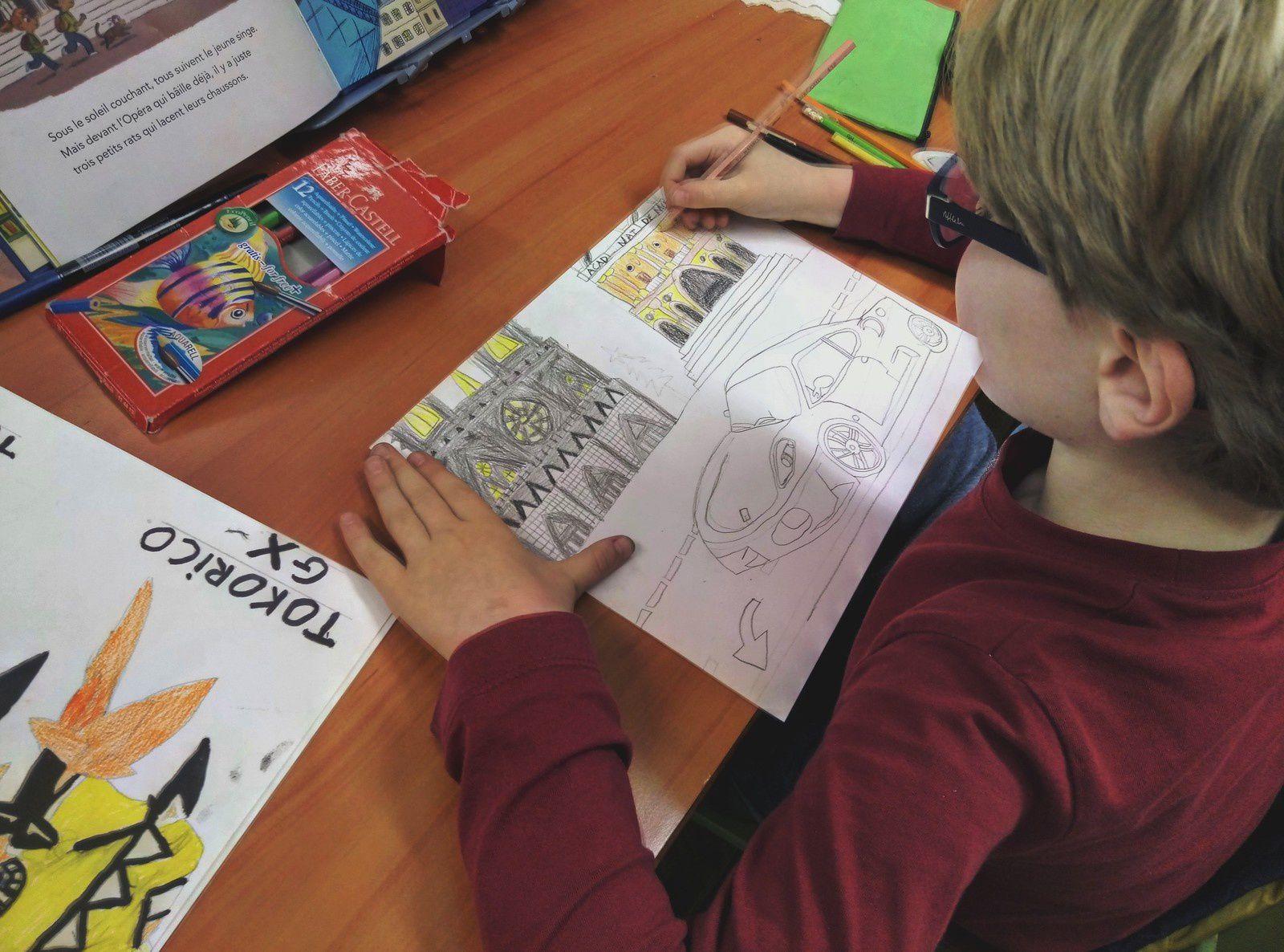 Oeuvres des élèves ... en février, on attend le 2 juin pour exposer !