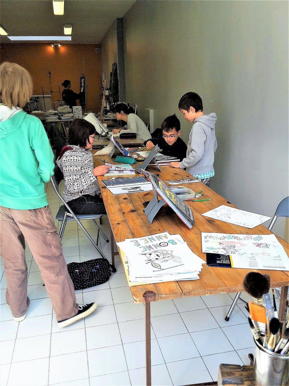 Après le beffroi du 2 juin, l'expo des élèves sera visible durant 1 mois à l'atelier !!!