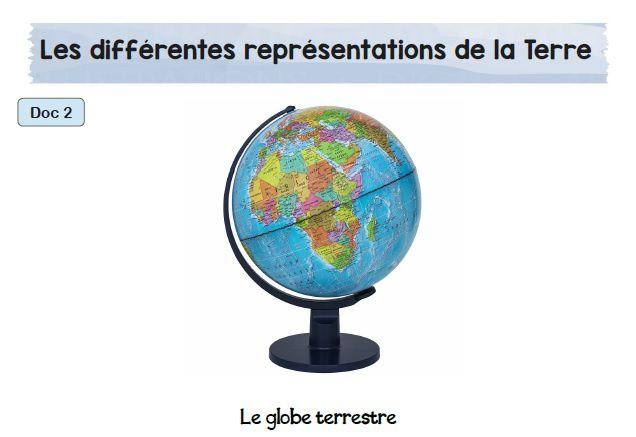 Les différentes représentations de la Terre : CM1-CM2