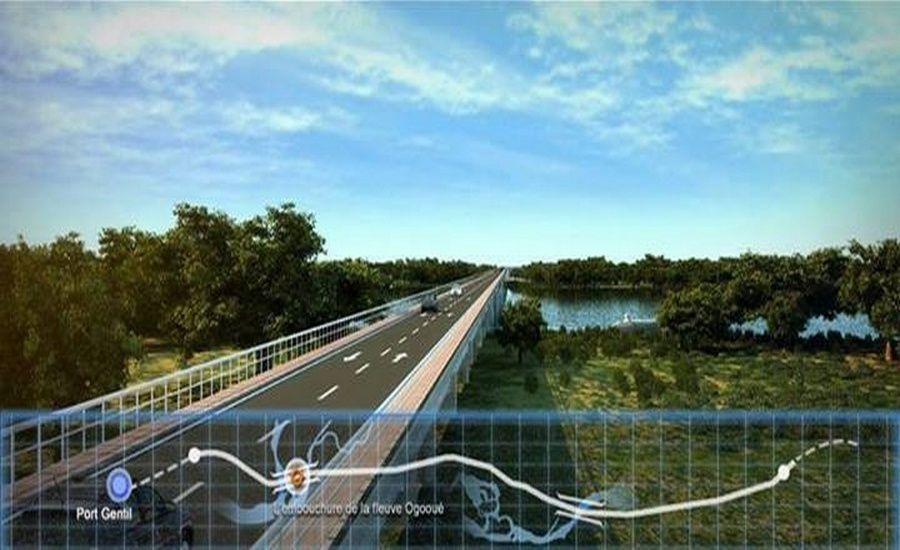 Le Gabon Émergent en action: Route Port-Gentil-Libreville début du chantier
