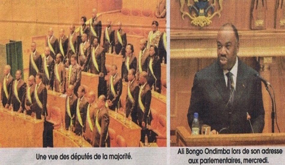 Le Président Ali Bongo Ondimba devant les Députés et Sénateurs réunies (12 sept.2012)