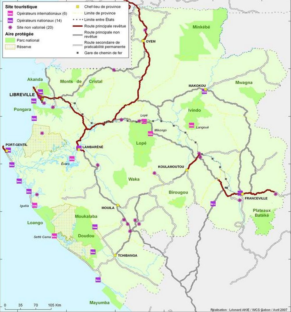 Site touristique et Aire protégée