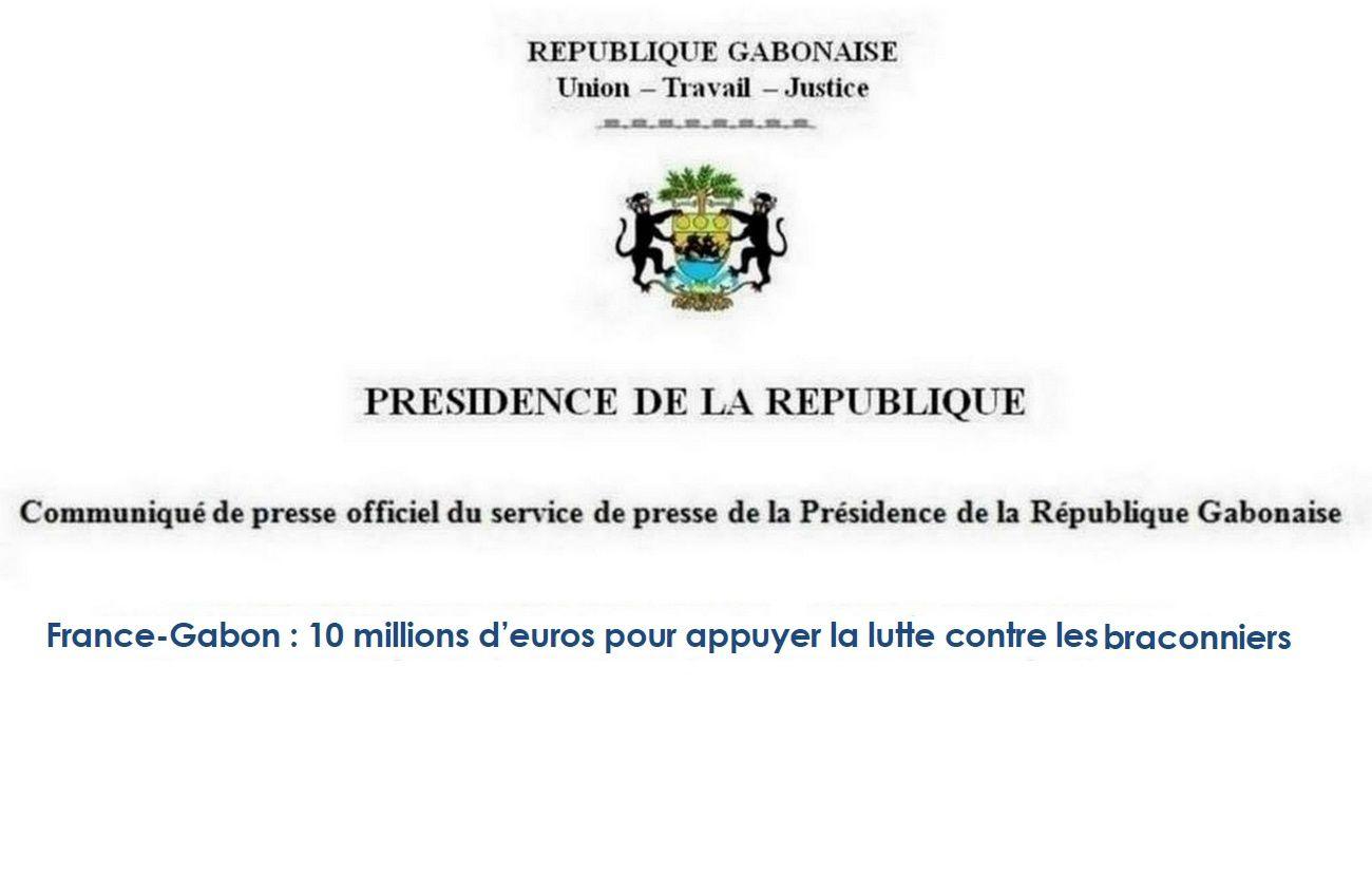 France-Gabon: 10 millions d'euros pour appuyer la lutte contre les braconniers