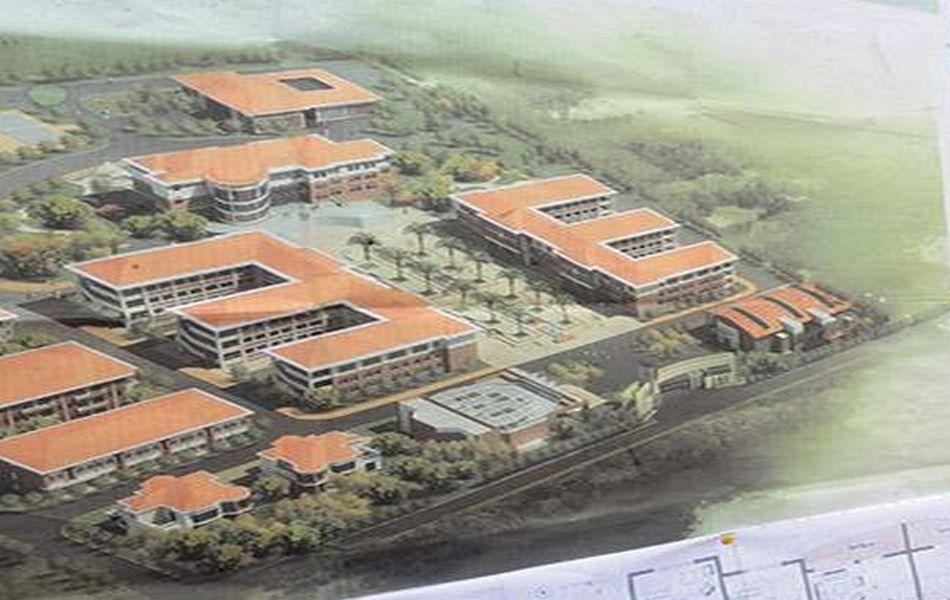 Maquette du complexe universitaire
