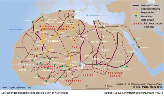 Le Sahara, au coeur des échanges africains du VIIIe au XVIe siècle