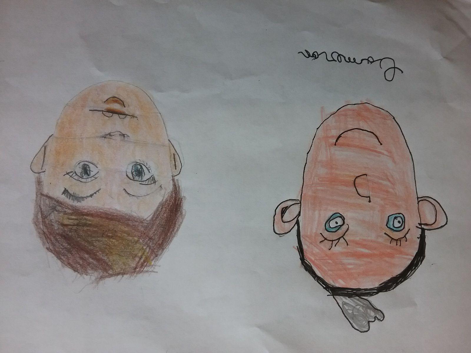 Les visages avant et après avoir travaillé