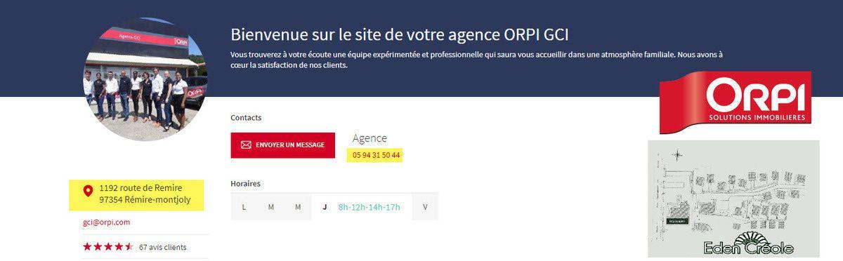L'agence ORPI GCI, vous propose des logements meublés dans un cadre verdoyant, idéalement placé dans Rémire-Montjoly