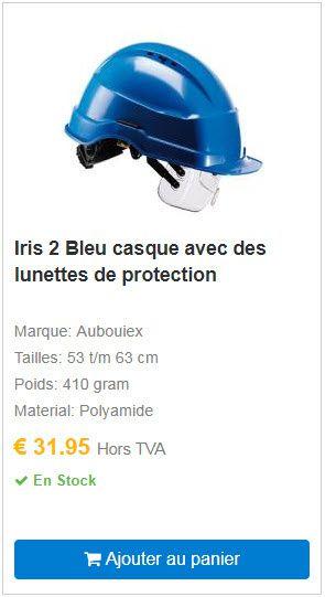 Iris 2 Bleu casque avec des lunettes de protection COOLSAFETY