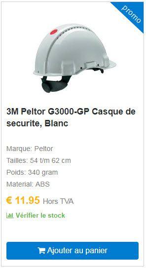 3M Peltor G3000-GP Casque de securite, Blanc COOLSAFETY