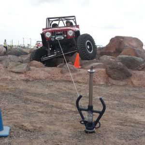 Winching With no Truck Just Metal Pins as an Anchor : using innovative All-Tie Anchor anchoring device