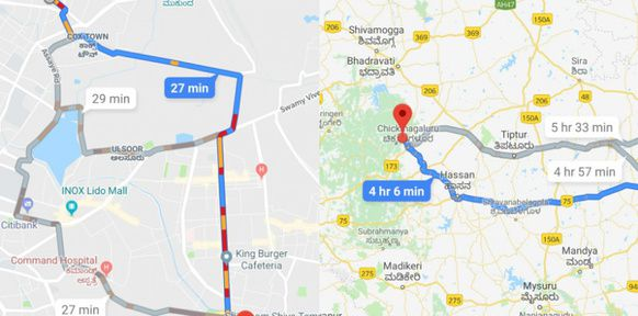 Google Maps version 2 roues Inde