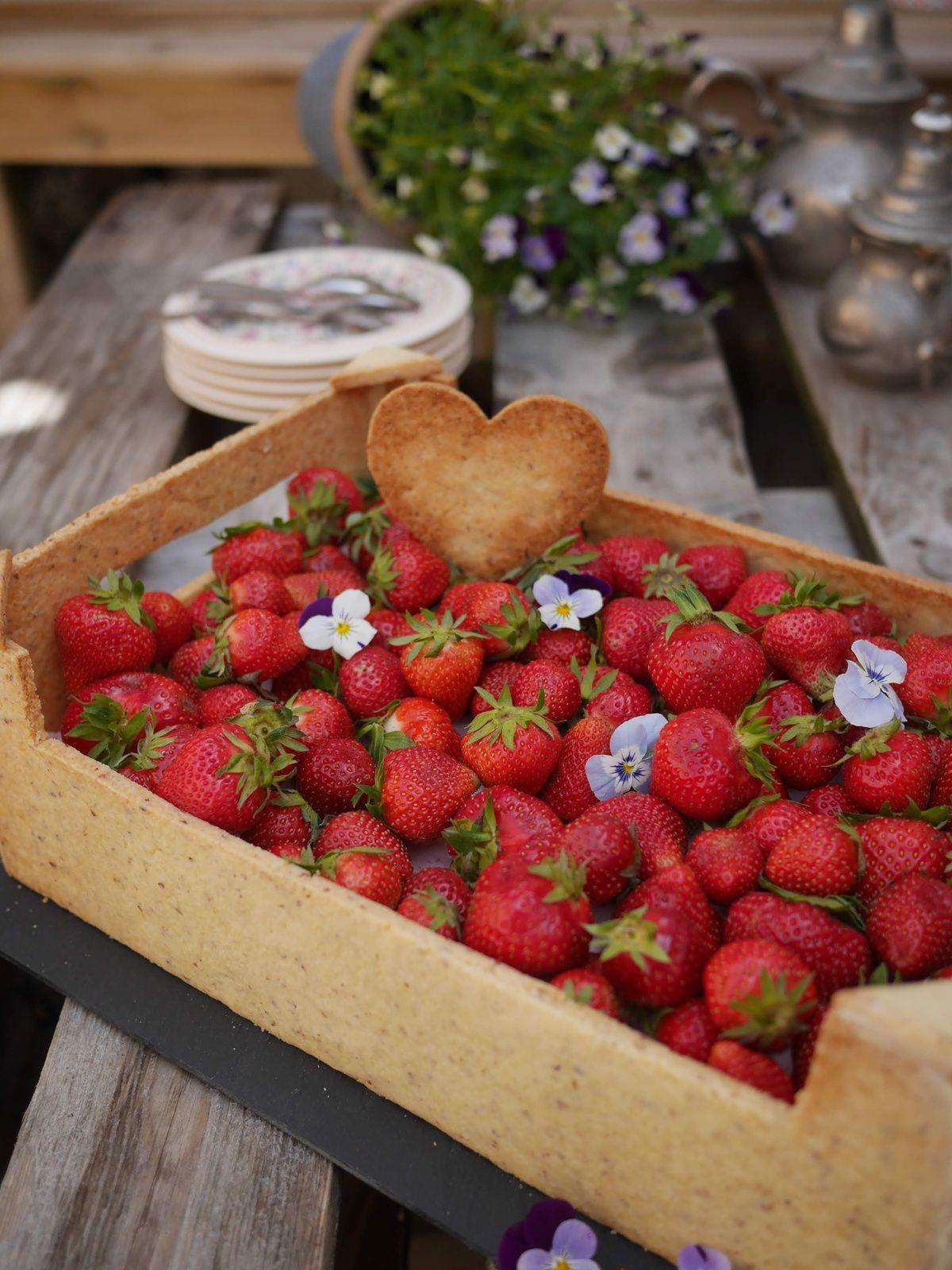 Cagette sablée aux fraises