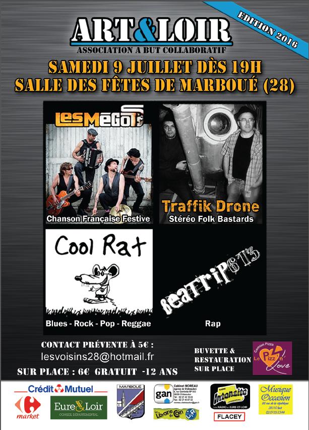 deuxième édition du festival ART&LOIR à Marboué le 9 juillet