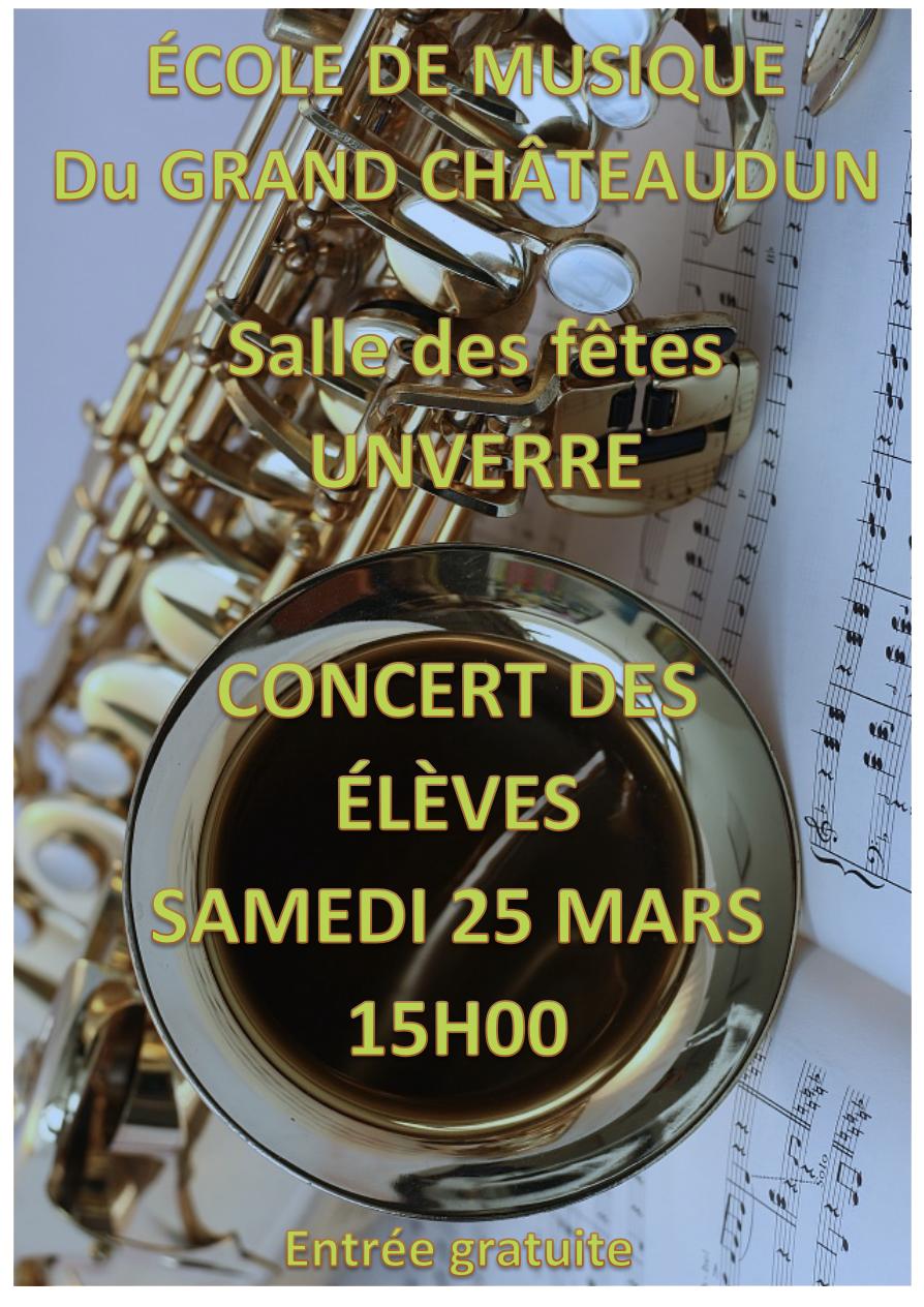 Invitation concert Ecole de Musique du Grand Châteaudun à Unverre